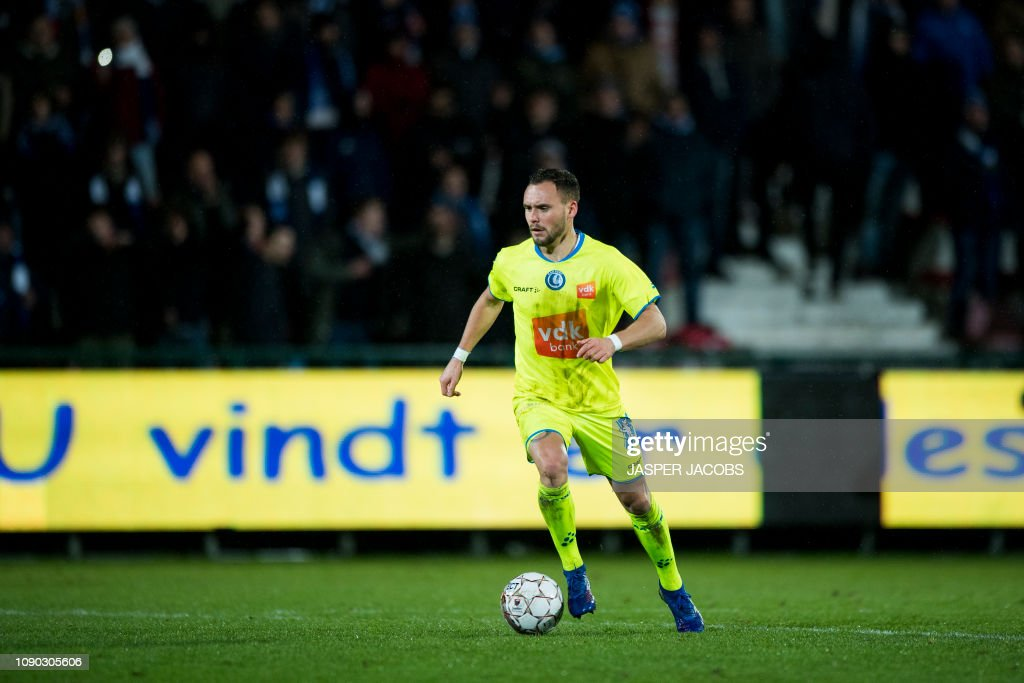 SOCCER JPL D23 KV KORTRIJK VS KAA GENT : News Photo