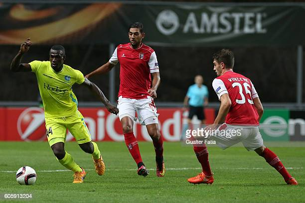 Gent«s midfielder Anderson Esiti from Nigeria in action during the UEFA Europa League match between SC Braga and KAA Gent at Estadio Municipal de...