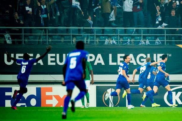 BEL: KAA Gent v AS Saint-Etienne: Group I - UEFA Europa League