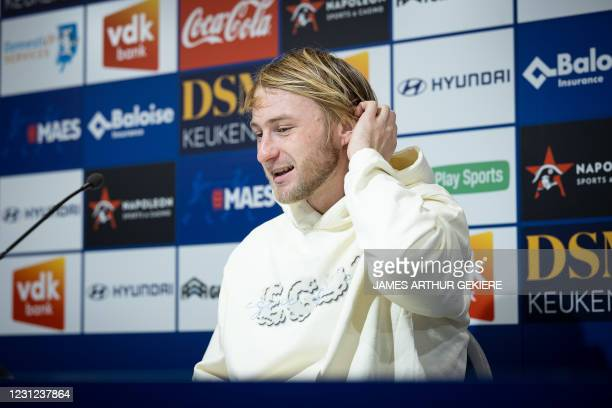 Gent's Roman Bezus pictured during a press conference of Jupiler Pro League team KAA Gent, Thursday 18 February 2021 in Gent, ahead of Friday's...