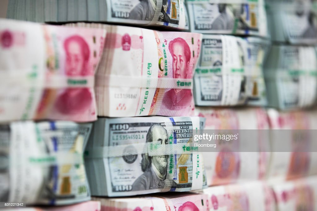 General Images Of South Korean Won And Chinese Yuan Currency Notes : News Photo