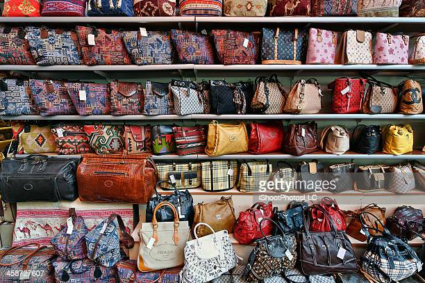 genuine fake designer hand bags - prada purse stock pictures, royalty-free photos & images