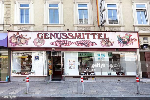 genussmittel shop, wien, österreich - ollo stock-fotos und bilder