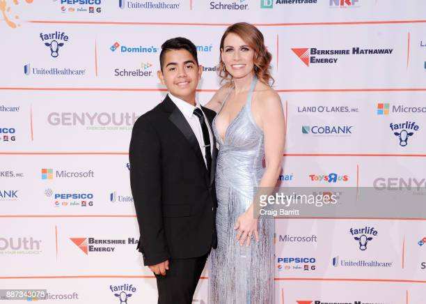 GENYOUth Gala honoree Charly Tiempos and CEO of GENYOUth Alexis Glick attend the Second Annual GENYOUth Gala at Intrepid SeaAirSpace Museum on...
