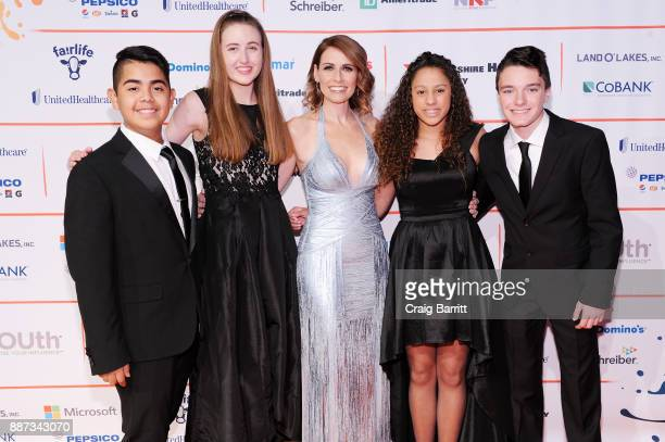 GENYOUth Gala honorees Charly Tiempos and Kimberly Hasse CEO of GENYOUth Alexis Glick and GENYOUth Gala honorees Destinee Ramos and Indiana Troupe...