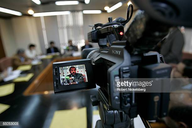 Geo TV's Islamabad Bureau covers a press conference given by the Asian Development Bank for its annual project summary January 19 2005 in Islamabad...