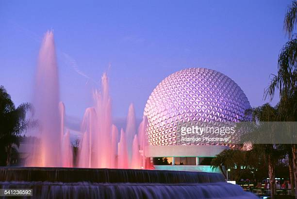 Geodesic Dome and Fountain at Epcot Center