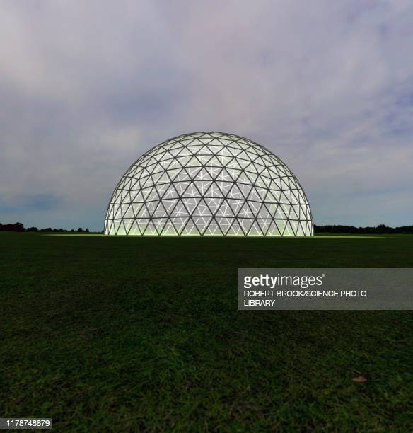 geodesic dome, illustration - architectural dome stock pictures, royalty-free photos & images