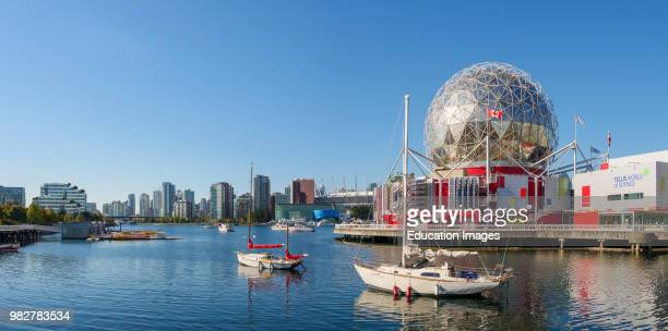 Geodesic dome of Science World at TELUS World of Science False Creek Vancouver British Columbia Canada