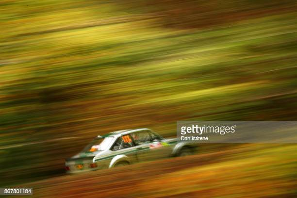 Geoff Bell of South Africa drives during day three of the FIA World Rally Championship Great Britain on October 29 2017 in Gwydir Wales