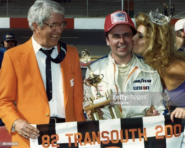 Geoff Bodine wins the TranSouth 200 NASCAR Nationwide race at Darlington