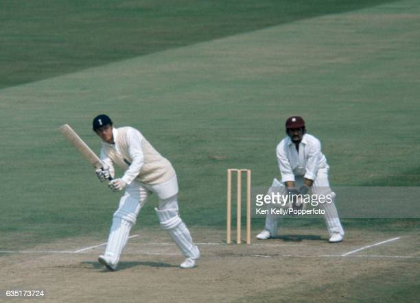 Geoff Boycott batting for England during the 2nd Test match between England and West Indies at Edgbaston, Birmingham, 13th August 1973. The...