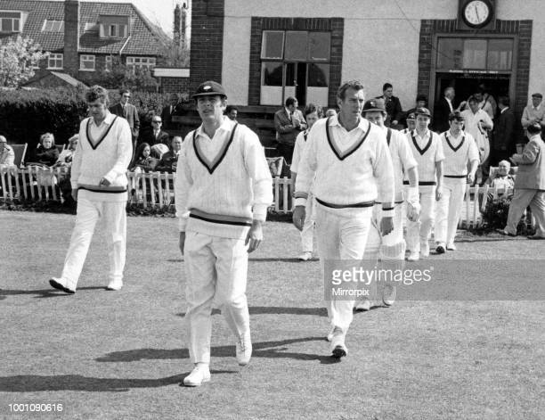 Geoff Boycott, Yorkshire's new skipper leads his team out for the first time for the start of their match with Warwickshire at Acklam Park, 8th May...