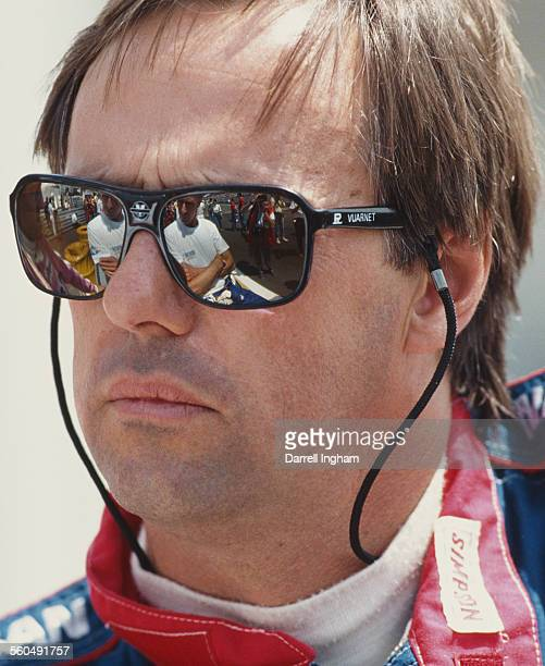 Geoff Brabham of Australia driver of the Nissan Performance Technology Inc Nissan R90CK Turbo V8 during practice for the FIA World Sportscar...