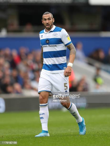 Geoff Cameron of QPR during the Sky Bet Championship match between Queens Park Rangers and Blackburn Rovers at The Kiyan Prince Foundation Stadium on...
