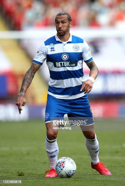 Geoff Cameron of QPR during the Sky Bet Championship match between Charlton Athletic and Queens Park Rangers at The Valley on June 27 2020 in London...