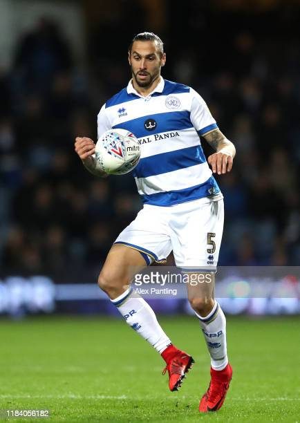 Geoff Cameron of QPR in action during the Sky Bet Championship match between Queens Park Rangers and Brentford at The Kiyan Prince Foundation Stadium...