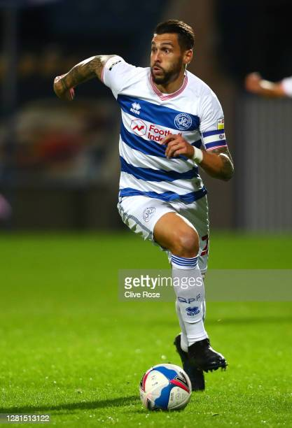 Geoff Cameron of Queens Park Rangers runs with the ball during the Sky Bet Championship match between Queens Park Rangers and Preston North End at...