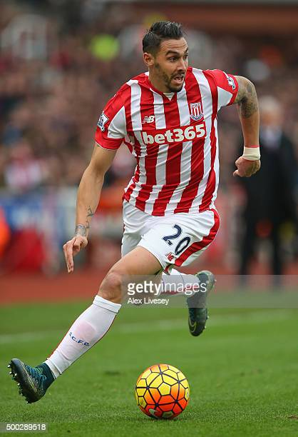 Geoff Cameron of Stoke City during the Barclays Premier League match between Stoke City and Manchester City at Britannia Stadium on December 5 2015...