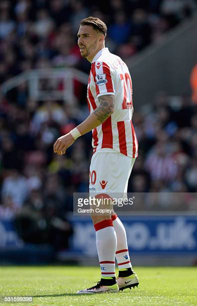 Geoff Cameron of Stoke City during the Barclays Premier League match between Stoke City and West Ham United at the Britannia Stadium on May 15 2016...