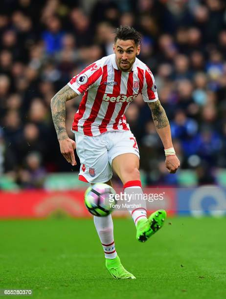Geoff Cameron of Stoke City during the Premier League match between Stoke City and Chelsea at Bet365 Stadium on March 18 2017 in Stoke on Trent...