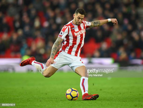 Geoff Cameron of Stoke City during the Premier League match between Stoke City and West Ham United at Bet365 Stadium on December 16 2017 in Stoke on...