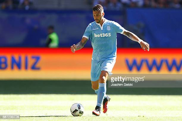 Geoff Cameron of Stoke City during the preseason friendly match between Hamburger SV and Stoke City at Volksparkstadion on August 6 2016 in Hamburg...