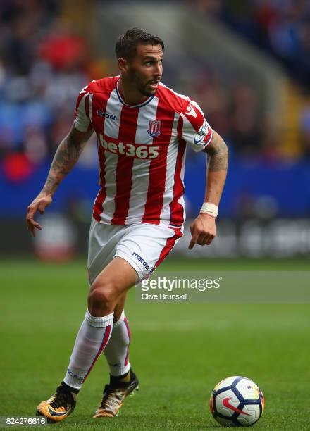 Geoff Cameron of Stoke City in action during the pre season friendly match between Bolton Wanderers and Stoke City at Macron Stadium on July 29 2017...