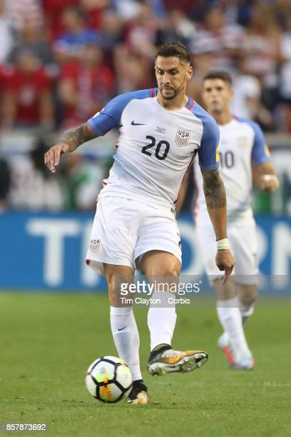 Geoff Cameron of the United States during the United States Vs Costa Rica CONCACAF International World Cup qualifying match at Red Bull Arena...