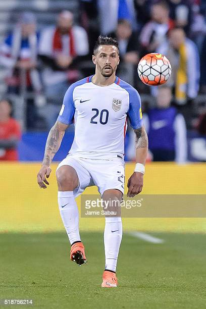 Geoff Cameron of the United States Men's National Team controls the ball against Guatemala during the FIFA 2018 World Cup qualifier on March 29 2016...