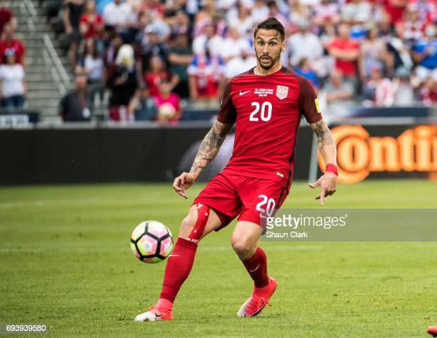 Geoff Cameron of United States during the World Cup Qualifier match between the United States and Trinidad Tobago at Dick's Sporting Goods Park on...