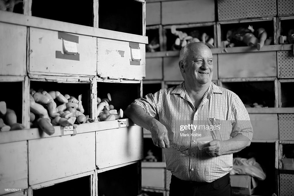 Geoff Chapman poses at Sydney's Original Doll Hospital in Bexley on February 19, 2013 in Sydney, Australia. Established in 1913 by Harold Chapman Jnr the Doll hospital is now run by Geoff Chapman, the third generation of Chapmans to run the business and will celebrate 100 years of repairing all types of dolls, teddy bears, rocking horses, umbrellas, prams and various other items.
