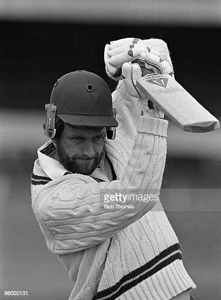 Geoff Cook batting for Northamptonshire during the pre-season photo-call at the County Ground, Northampton on 18th April 1984. .