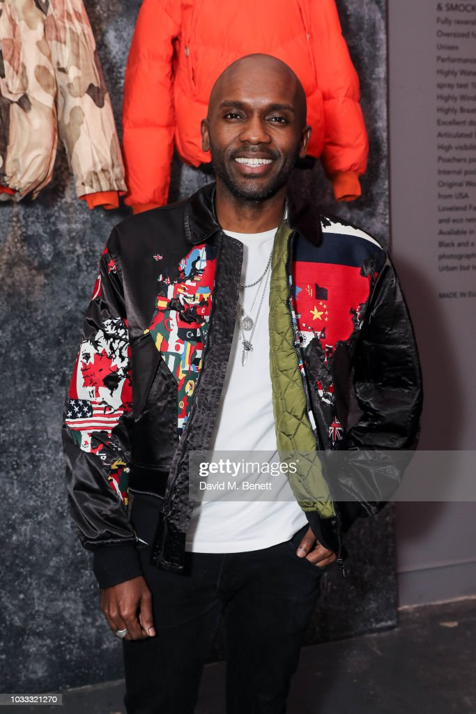 Geoff Cooper attends the Griffin X Woolrich capsule collection launch presented by Highsnobiety during London Fashion Week September 2018 at 180 The Strand on September 14, 2018 in London, England.