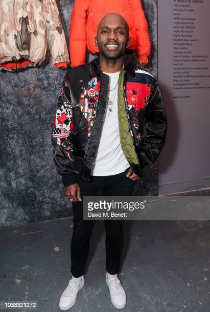 Geoff Cooper attends the Griffin X Woolrich capsule collection launch presented by Highsnobiety during London Fashion Week September 2018 at 180 The...