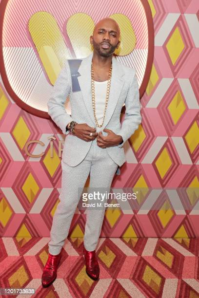 Geoff Cooper Sagaboi attends the Warner Music CIROC BRIT Awards house party in association with GQ at The Chiltern Firehouse on February 18 2020 in...