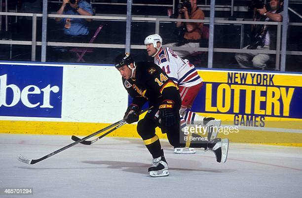 Geoff Courtnall of the Vancouver Canucks skates on the ice during Game 1 of the 1994 Stanley Cup Finals against the New York Rangers on May 31 1994...