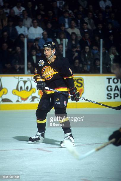 Geoff Courtnall of the Vancouver Canucks skates on the ice during an NHL game circa 1994