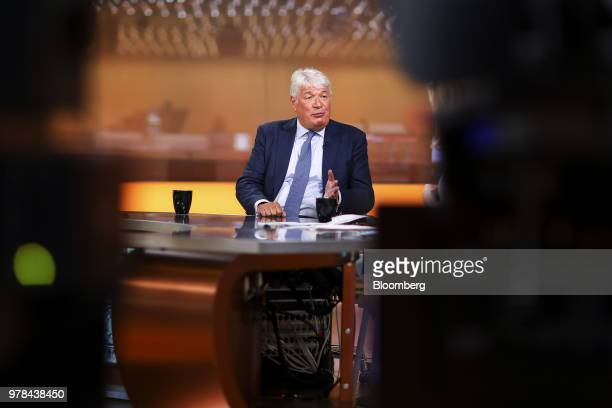 Geoff Drabble chief executive officer of Ashtead Group Plc pauses during a Bloomberg Television interview in London UK on Tuesday June 19 2018...