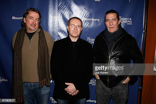 Geoff Gilmore Conor McPherson and Ciaran Hinds attend The Eclipse New York premiere at Tribeca Cinemas on February 25 2010 in New York City