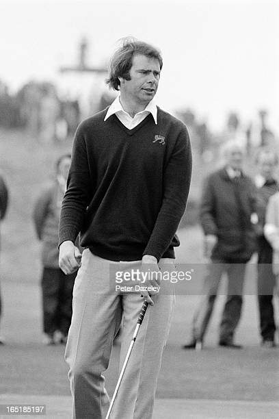 Geoff Godwin of Engalnd during the final day of the 1979 Walker Cup Matches at the Honourable Company of Edinburgh Golfers Muirfield on May 31 1979...
