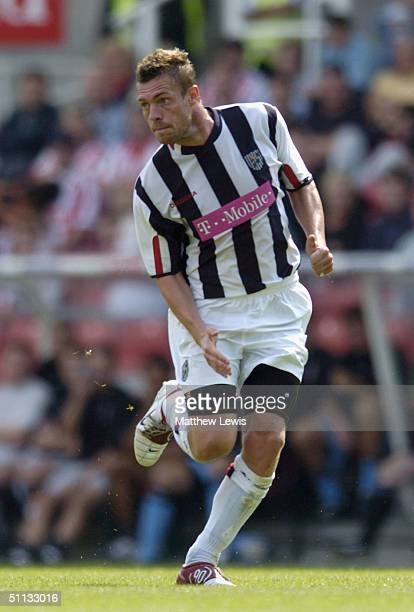 Geoff Horsfield of West Bromwich Albion in action during the PreSeason friendly match between Stoke City and West Bromwich Albion at the Britannia...