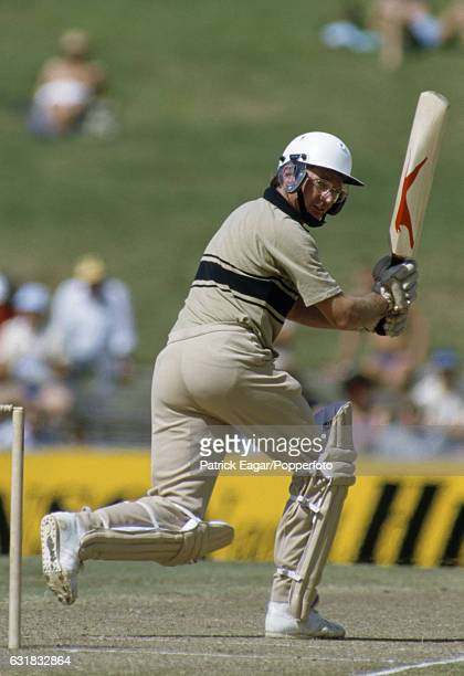 Geoff Howarth batting for New Zealand in the Benson and Hedges World Championship of Cricket Plate Final between New Zealand and West Indies at the...