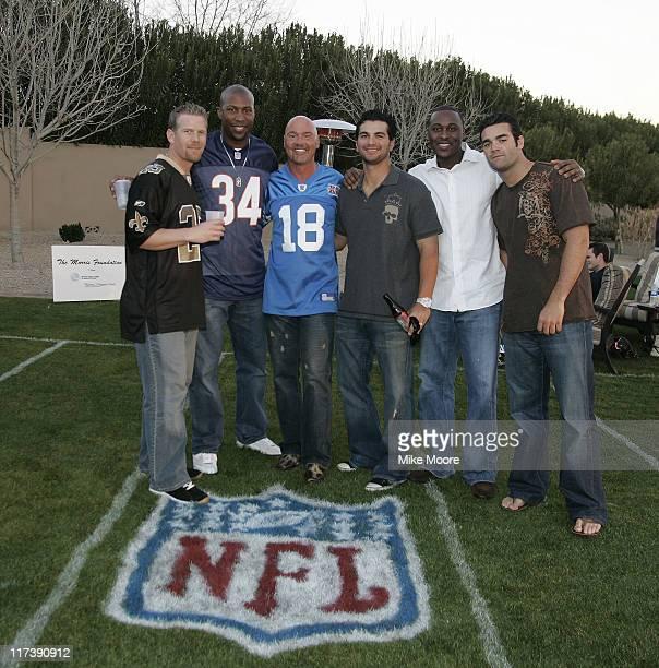 Geoff Jenkins Jermaine Dye Lance Morris Eric Chavez Gary Mathews Jr and Conner jackson during the Morris Foundation's Super Bowl Bash to benefit the...