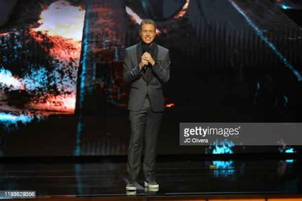 Geoff Keighley speaks onstage during The Game Awards 2019 at Microsoft Theater on December 12, 2019 in Los Angeles, California.