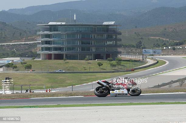 Geoff May of the United States and Team Hero EBR rounds the bend during the FIM Superbike World Championship Free Practice at Portimao Circuit on...