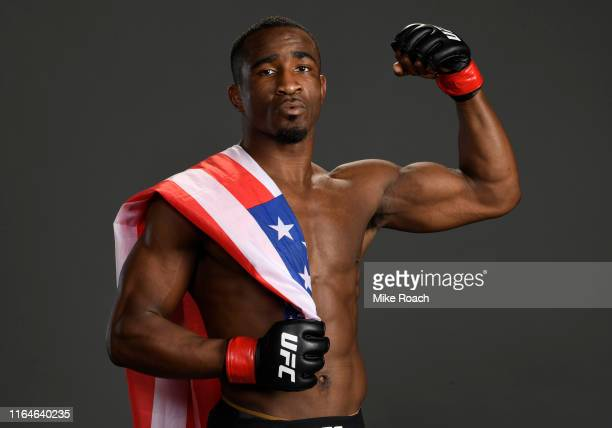 Geoff Neal poses for a portrait backstage after his victory over Niko Price during the UFC 240 event at Rogers Place on July 27 2019 in Edmonton...