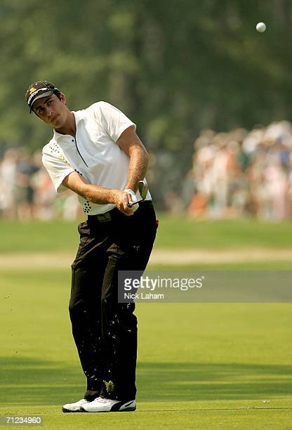 Geoff Ogilvy of Australia pitches to the sixth green during the final round of the 2006 US Open Championship at Winged Foot Golf Club on June 18 2006...
