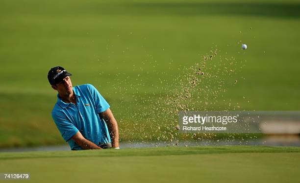 Geoff Ogilvy of Australia plays onto the 11th green during the second round of THE PLAYERS on the Stadium Course at the TPC Sawgrass on May 11 2007...