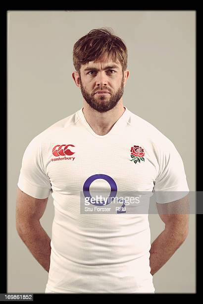 Geoff Parling of England poses for a portrait during the England rugby union squad photo call at Weetwood Hall on January 21, 2013 in Leeds, England.